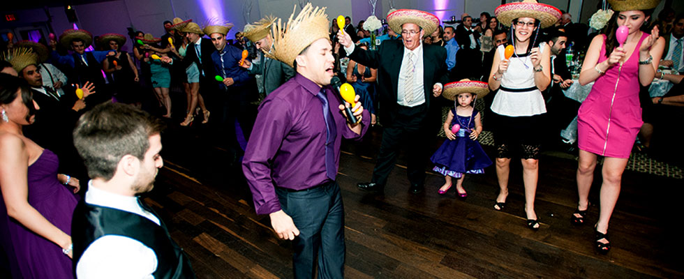 Party MC with microphone to hype of the dancefloor